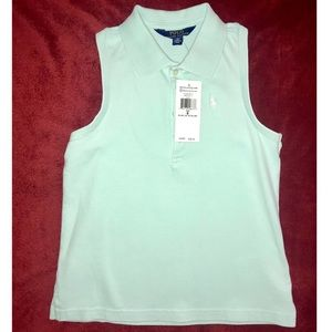 Girls Sleeveless Mesh Polo Shirt
